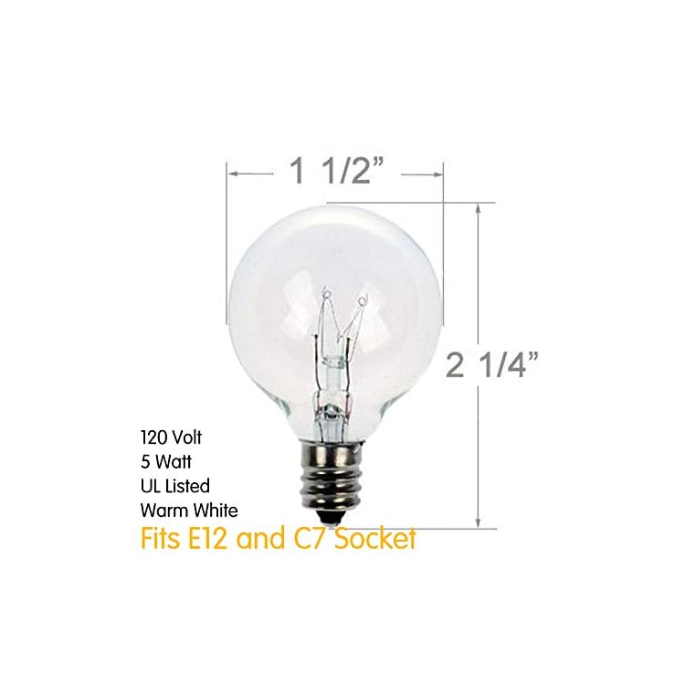 G40-Replacement-Light-Bulbs-5W-Clear-Globe-Bulb-fits-E12/C7-Candelabra-Screw-Base-Sockets,-1.5-Inch-Dimmable-Light-Bulbs-for-Indoor-Outdoor-Patio-Decor,-Pack-of-25