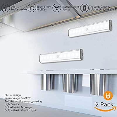 Under-Cabinet-Lighting,-Motion-Sensor-Closet-Light-USB-Rechargeable-10-LED-Night-Lights,-Stick-on-Anywhere-Portable-Light-Bar-for-Closet-Cabinet-Counter-Wardrobe-Stairs-Kicthen