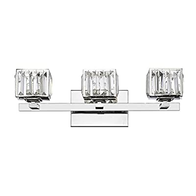 Lighting-CH820038CM21-BL3-Contemporary-3-Light-Chrome-Finish-Crystal-Globe-Bath-Vanity-Wall-Fixture-21'-Wide