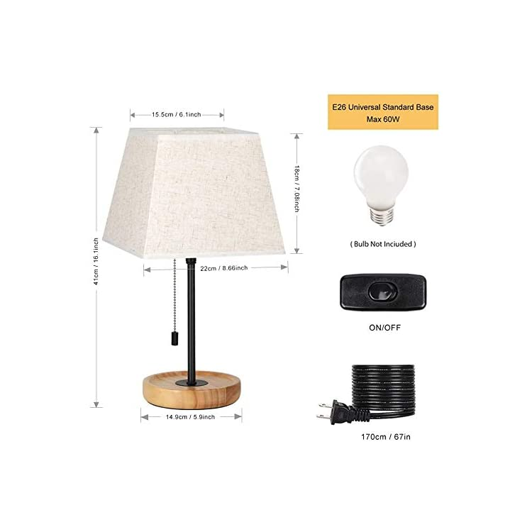 Bedside-Table-Lamps,-Nightstand-Lamps-Wooden-Base-Desk-Lamp-White-Shad