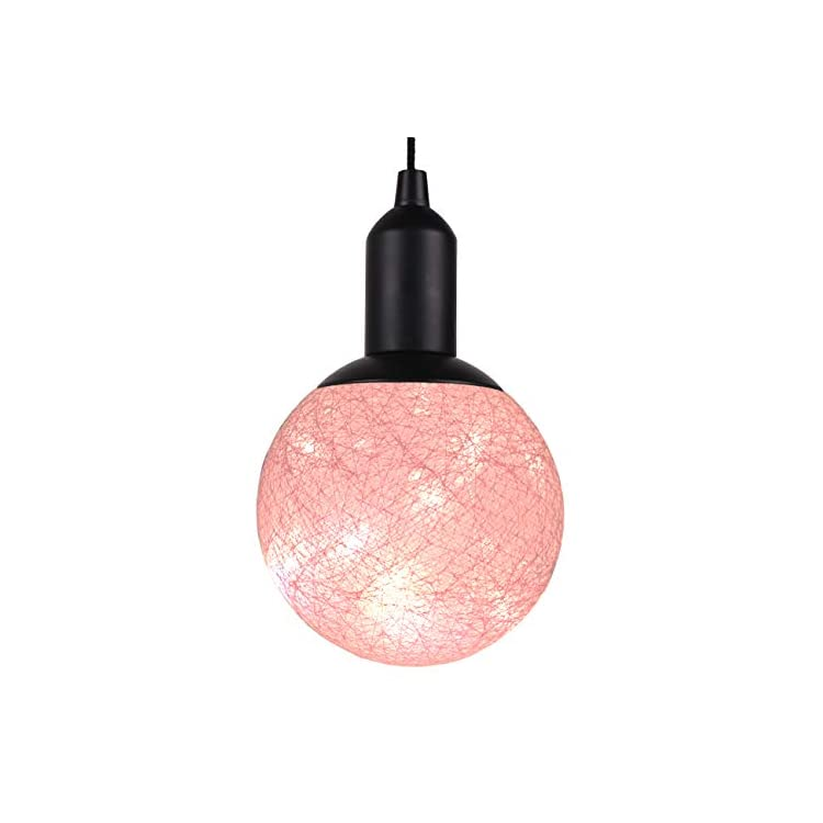 Ball-Light-Globe-Decorative-Lights-LED-Warm-Fairy-Lights-Battery-Operated-Rope-Hanging-Lighting-for-Indoor-Wall-Bedroom-Curtain-Wedding-Christmas-Tree-Party-(Pink)