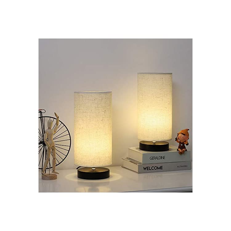 Small-Table-Lamps---Modern-Bedside-Lamps-Set-of-2,-Cylindrical-Nightst