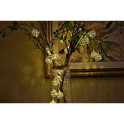Globe-String-Lights,-Decorative-Moroccan-Orb,-Party-Hanging-Lights,-20-Large-Golden-Metal-Balls,-Bright-Warm-Light,-Battery-Powered,-for-Indoor,-Bedroom,-Party,-Wedding,-Christmas-UMSL02G