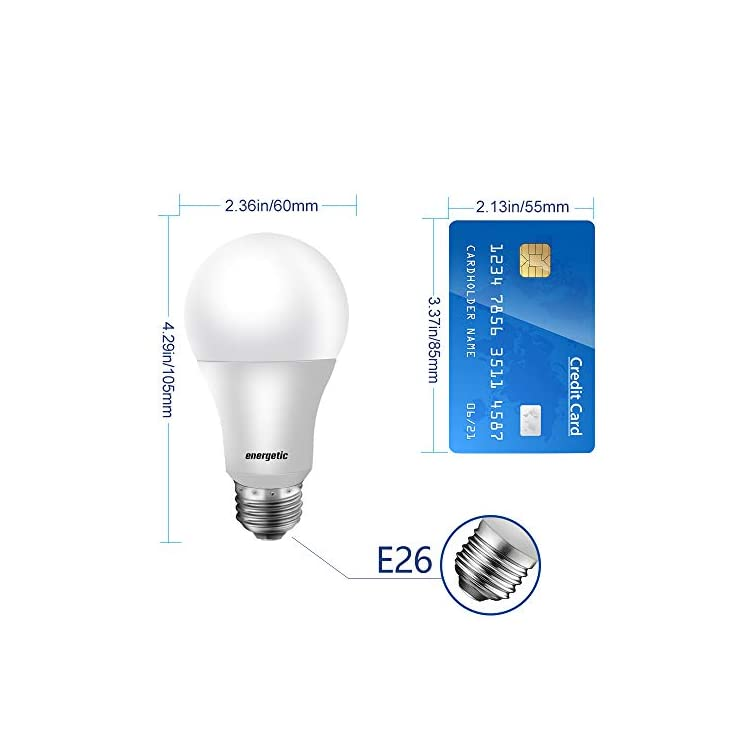 60W-Equivalent,-A19-LED-Light-Bulb,-Warm-White-3000K,-E26-Base,-Non-Dimmable,-750lm,-UL-Listed,-4-Pack