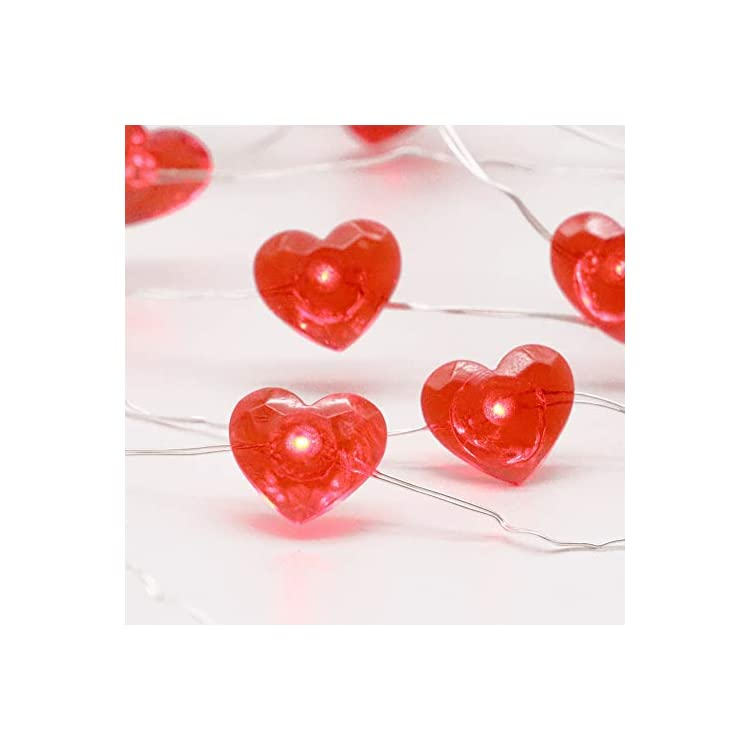 Red-Heart10-ft-40-LED-Copper-Wire-String-Lights-for-Valentine's-Day-Gift-New-Year-Décor-Anniversary-Bedroom-Patio-Garden-Gate-Yard-Parties-Wedding-Birthday-Festival-with-Remote-&-Timer