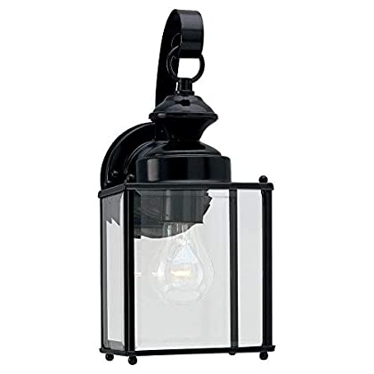 8457-12-Single-Light-Jamestowne-Outdoor-Wall-Lantern-with-Clear-Bevele