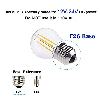 DC/AC-12V-4W-LED-Mini-Globe-Bulb,-Dimmable-with-12V-DC-Dimmer,-E26-Med