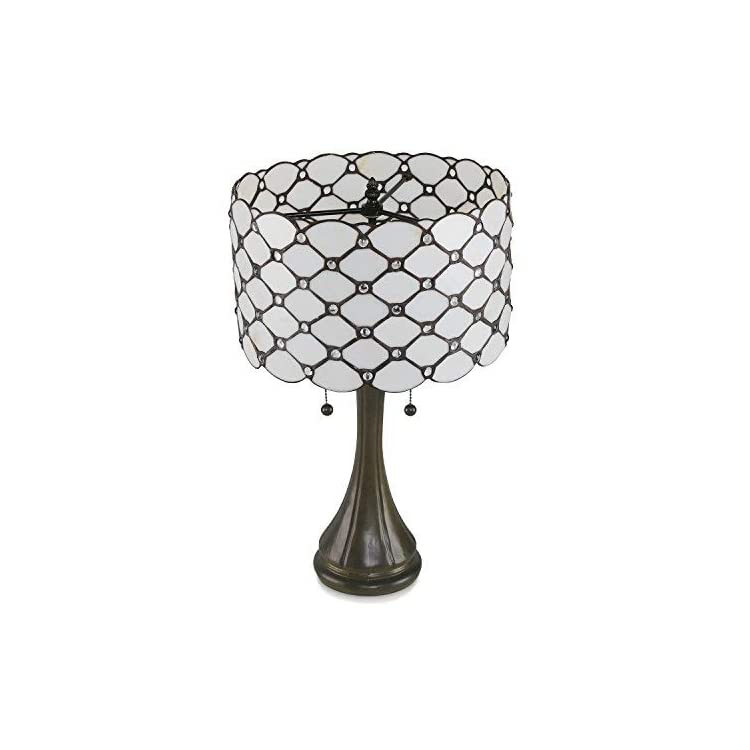 Tiffany-Style-Table-Lamps-Contemporary,-Diamond-Pattern-Stained-Glass-