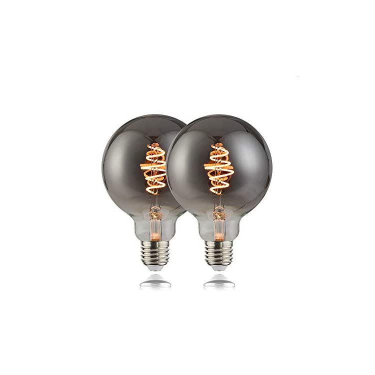 Gun-Black-G25(G80)-LED-Flexible-Spiral-Filiment-Edison-Lights-Bulbs,Vintage-Black-Glass-LED-Art/Bedroom/Bar-Lighting,Dimmable,Gold-Yellow,1800K,Black,E26,Pack-of-2