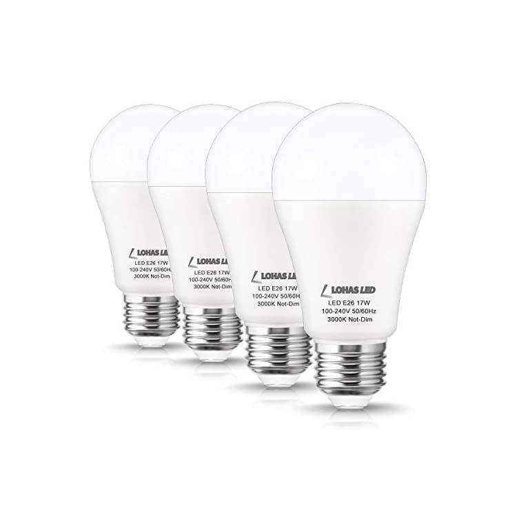 LOHAS-150W-Equivalent-LED-Light-Bulbs,-Soft-White-3000K,-17W-A19-LED-Bulbs,-1600-Lumen,-E26-Base-Super-Bright-Incandescent-Bulb-Replacement-for-Home-Lighting,-Non-Dimmable,-4Pack--UL-Listed