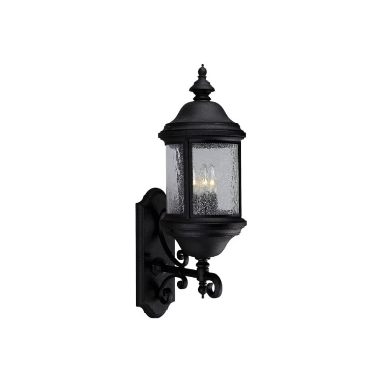 P5652-31-Traditional-Three-Light-Large-Wall-Lantern-from-Ashmore-Collection-Finish,-8-5/8-Inch-Width-x-26-1/4-Inch-Height,-Textured-Black