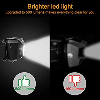 Redlight-Spot-Rechargeable-Headlamp,-500-Lumens-White-Cree-LED-Head-La