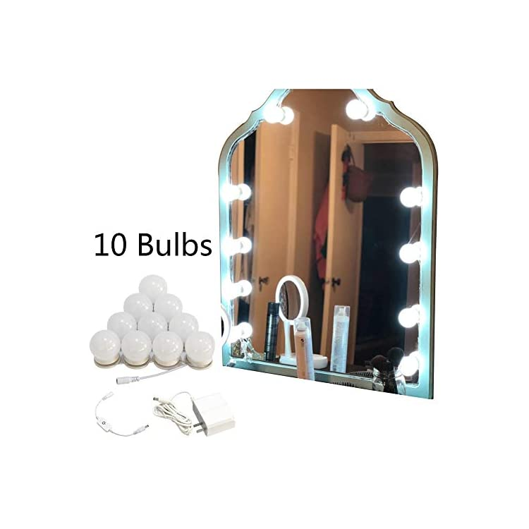 Vanity-Mirror-Lights-Kit-for-Makeup-Flexible-LED-6000K-Daylight-White-with-Dimmer-and-Power-Supply-Dressing-Table-Vanity-Set-13ft,-DIY-Mirror,-Mirror-not-Included