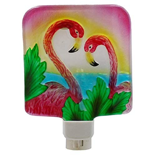 Bay-70568Pink-Flamingo-Pair-Night-Light-with-Swivel-Plug,-Glass,-6-Inches-x-5-Inches