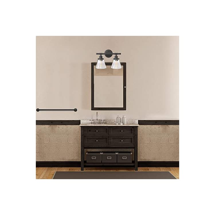 Parker-2-Vanity-Light,-Oil-Rubbed-Bronze,-Clear-Glass-Shades-51444,-11',-Chrome