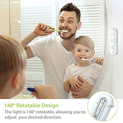 Tap-Closet-Lights,-One-Touch-Light,-Stick-on-Anywhere-4-Led-Touch-Tap-Light,-Cordless-Touch-Sensor-LED-Night-Light,-Battery-Operated-Stair-Safe-Lights,-140°-Rotation,-3-Pack