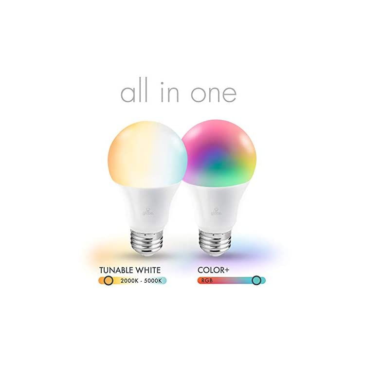 Wi-Fi-Smart-10-Watt-(60W-Equivalent)-Multicolor-Changing-RBG-Tunable-White-Dimmable-Frosted-LED-Light-Bulb-1-Pack,-No-Hub-Required,-2000K---5000K,-A19-Shape,-E26-Base-34212