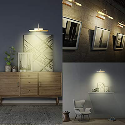 Wireless-Picture-Light,Remote-Control-Painting-Light,3-Modes-Dimmable-Art-Display-Light,Rotatable-Light-Head-Light-up-for-Picture-Frame-Portrait-Artwork