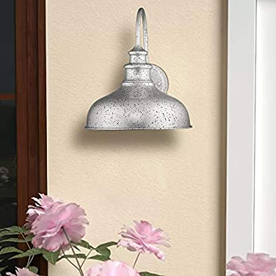 Zeyu-Rustic-Barn-Light-for-Wall,-11-inches-Gooseneck-Wall-Lamp,-Galvanized-Silver-Finish,-02A390-SLV