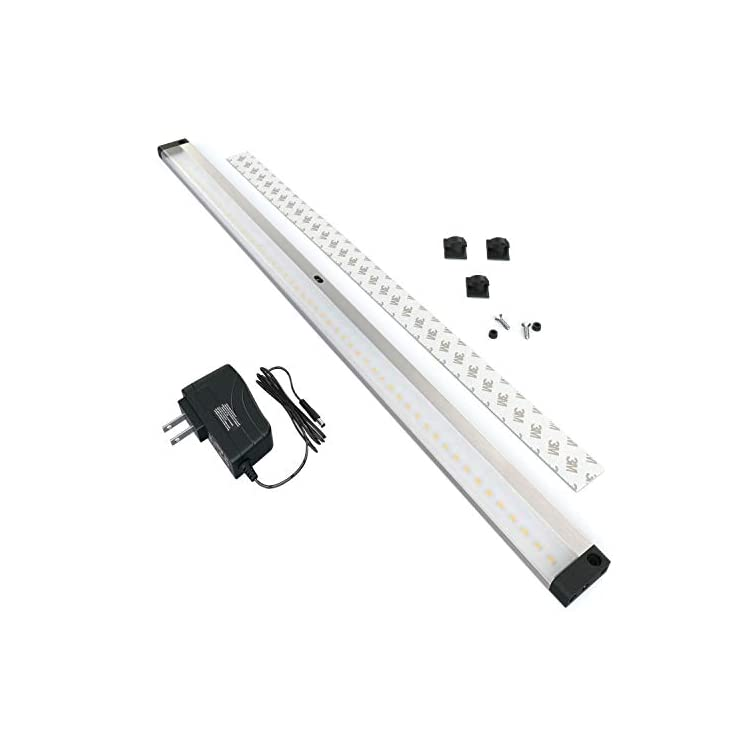 LED-Dimmable-Under-Cabinet-Lighting---Extra-Long-20-Inch-Panel,-Hand-Wave-Activated---Touchless-Dimming-Control,-Cool-White-(6000K)