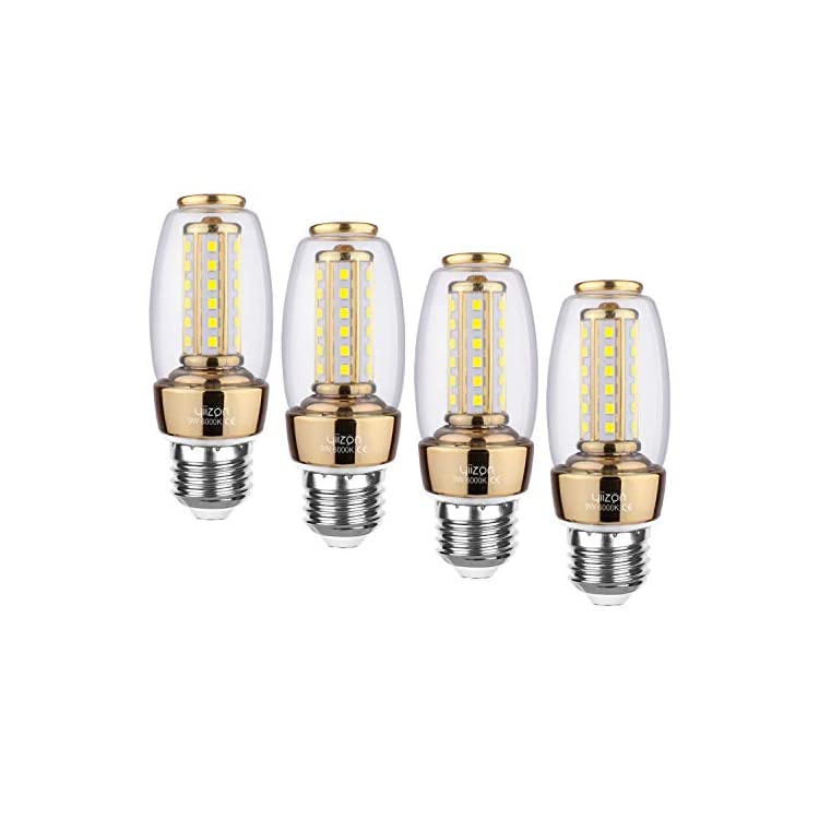 Yiizon-E26-LED-Corn-Bulbs,9W-LED-Candelabra-Light-Bulbs-80-Watt-Equivalent,-900lm,-Daylight-White-6000K-LED-Chandelier-Bulbs,-Decorative-Candle,-Non-Dimmable-LED-Lamp-4-Pack