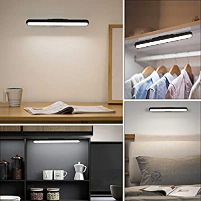 Dimmable-Touch-Light-Bar,-3W-Build-in-2000mAh-Battery-and-Stick-Magnet-Mount,-for-Reading,-Closet,-Cabniet,-Makeup-Mirror,-Bedside,-Study-Light