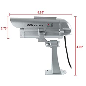 Fake-Outdoor-CCTV-Security-Camera-w/Solar-Panel-Powered-Strobe-Light