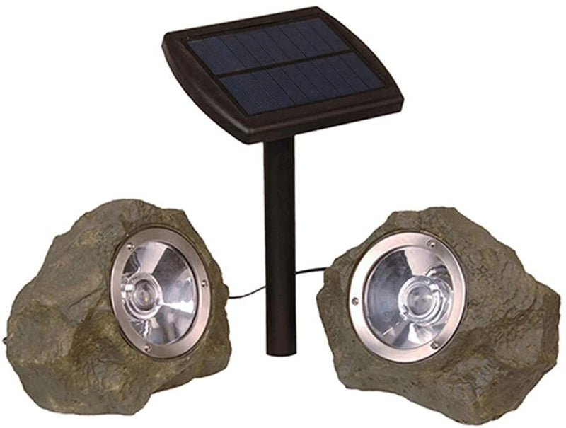 10141B-2Pk-Solar-Smart-Focus-Spot-Light-Rock-Spotlights,-Gray