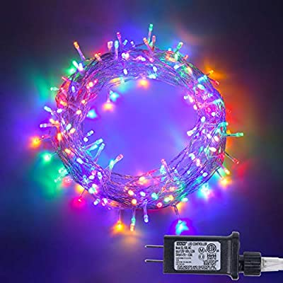 100-LED-Fairy-String-Lights-with-Safe-Voltage-Adaptor,-8-Modes-Multicolor-Christmas-Lights-for-Christmas-Tree,-Party,-Children-Bedroom,-Indoor-and-Outdoor-Decoration.