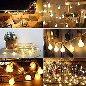 14.8-FT-40-LED-String-Lights,-Waterproof-Ball-Fairy-Lights,-8-Lighting-Modes,-String-Light-Battery-Powered-for-Indoor-Outdoor-Garden-Home-Wedding-Party-Christmas-Decoration,-Warm-White