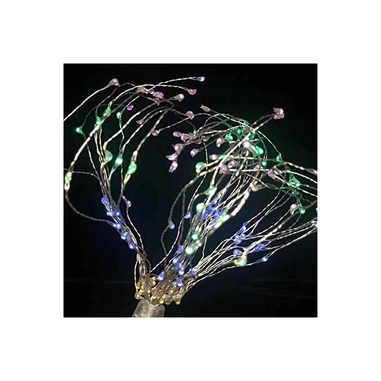 4-Pcs-160-LED-Copper-Wire-Firework-Lights-Battery-Operated-Fairy-Lights-with-Remote(Batteries-not-included),8-Modes-Starburst-Lights,for-Indoor-Decor-String-Hanging-Lights-(Plunger-muilt-color)