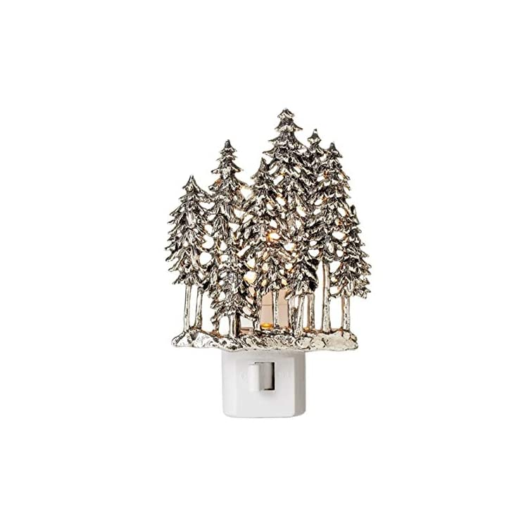 Zinc-Alloy-Night-Light-by-Midwest-CBK---Woodland-Trees