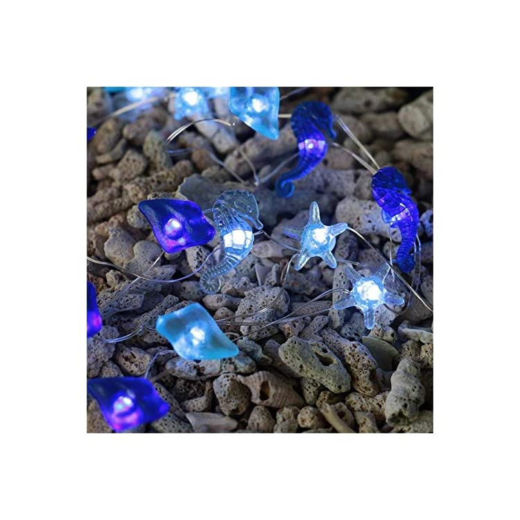 13ft-Ocean-Theme-Decorative-Fairy-String-Lights-Battery-Operated-Starfish-Sea-Glass-40leds-Silver-Copper-Wire-Lights-for-Home,-Kids-Room,-Bedroom,-Party,-Holiday,-Wedding-Decoration
