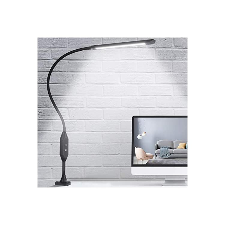 LED-Desk-Lamp-with-Clamp,-Flexible-Gooseneck-Clamp-Lamp-with-Touch-&-R