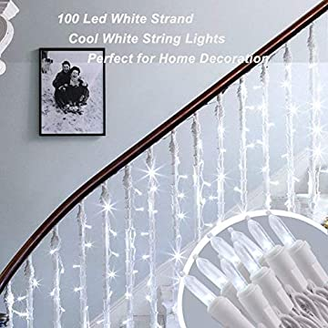 100-LED-String-Lights-Clear-White-Wire-33ft-120V-UL-Certified-Mini-Lights-for-Christmas-Party-Wedding-Bedroom-Decoration-Cool-White