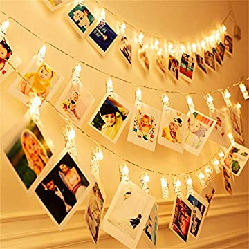 Photo-Clips-String-Lights---30-LED-Indoor/Outdoor-Christmas-Fairy-Twinkle-Lights,USB-Powered-Wedding-Party-Home-Decor-Lights-for-Hanging-Photos,-Cards-and-Memos(12-Feet,-Warm-White)