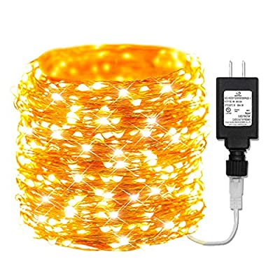 165ft-Led-Copper-String-Lights,-500-Led-Starry-Lights-Long-String-+-15V-DC-Power-Adapter-Christmas-Lights-with-UL-Listed-for-Party-Wedding-Bedroom-Christmas-Tree-Decor-(165FT,-Warm-White)