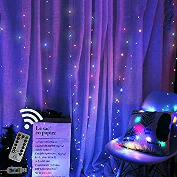 300-LED-Fairy-Light-Colorful-Light,-8-Modes-USB-Remote-Curtain-Lights-