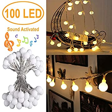 Battery-Operated-Globe-String-Lights,-Christmas-Decoration-Lights,-100-LED,-Music-Sync-Fairy-Lights-with-Romote-for-Home-Patio-Party-Garden-Christmas-Wedding-Decoration