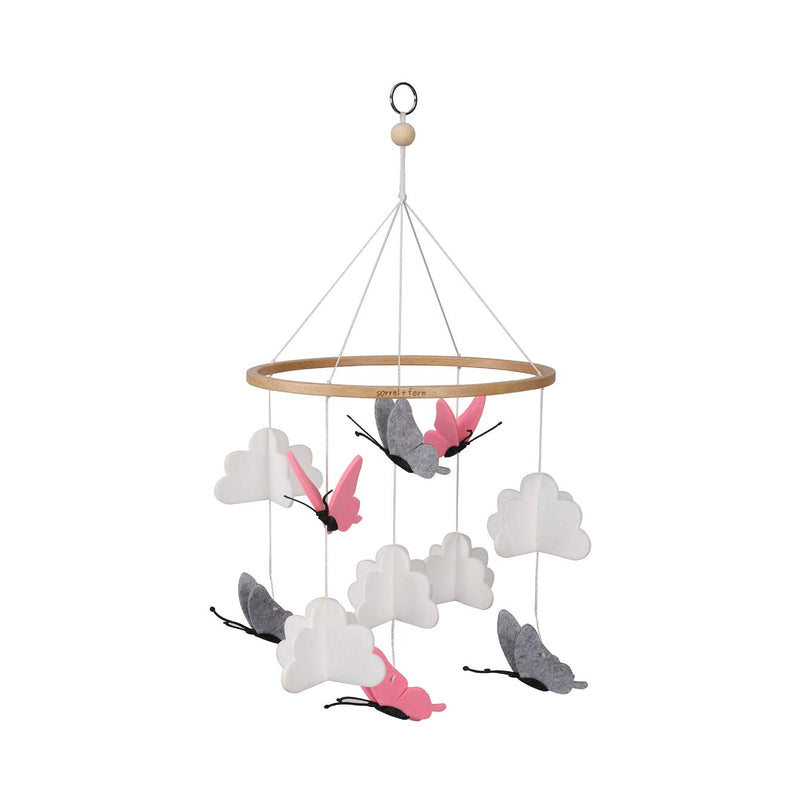 Sorrel-and-Fern-Crib-Mobile-Butterflies-in-The-Clouds-Grey-and-Pink-Ba