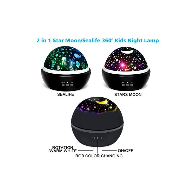 Baby-Night-Light-Star-Projector-Lamp-Warm-White-Kids-Night-Light-Ocean-Undersea-Lamp-and-Starry-Sky-Projector,-8-Colors-360°-Rotating-Kids-Gifts-Night-Light-for-Bedroom,-Birthday,-Parties-Decor