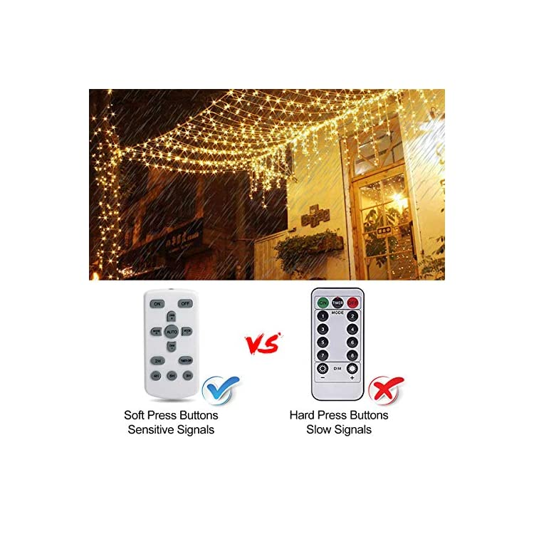 Curtain-String-Lights-300-LEDs,-USB-Powered-Fairy-Light-Waterproof-IP67,-8-Modes-with-Remote-Control-Timer,-LED-String-Lights-for-Indoor-Outdoor-Garden-Wedding-Home-Party-Wall-Christmas-Hallowee