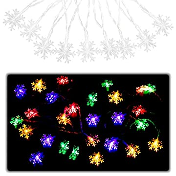 LED-String-Lights,-6.6feet-10-LED-Colored-Christmas-Light-for-Indoor,Bedroom,Curtain,Patio,Lawn,Landscape,Fairy-Garden,Home,Wedding,Holiday,Christmas-Tree,Party---Snowflake