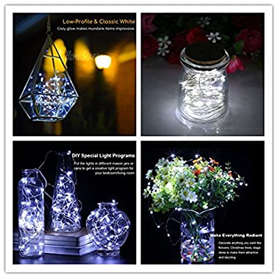 LENPOW-2-Pack-Led-Starry-Fairy-String-Lights-Super-Bright-Firefly-Rope-Lamp-Twinkle-Lantern-16.4ft-50-Led-Waterproof-8-Modes-Remote-Control-for-Room-Wedding-Festival-Decor-Battery-Operated-Cool-White