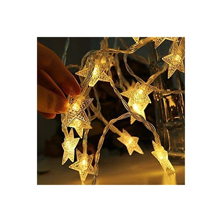 Star-String-Lights,-Fairy-Lights,-LED-Twinkle-Lights,-Battery-Operated-String-Lights,-6M-40-LED-Decorative-Lighting-for-Christmas-Party-Home-Wedding-Birthday-Bedroom-Princess-Castle-Play-Tents