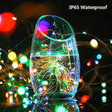 Upgraded-Solar-Powered-String-Lights,-2-Pack-8-Modes-50-LED-Solar-Fairy-Lights-Waterproof-16ft-Silver-Wire-Lights-Outdoor-Garden-String-Lights-for-Home-Patio-Yard-Party-Decoratio-(50-LED,-Multi-Color)