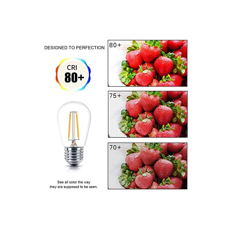 10-Pack-Shatterproof-LED-S14-Replacement-Light-Bulb---E26/E27-Medium-Candelabra-Screw-Base-Edison-Bulbs-Equivalent-to-11W,-Fits-for-Commercial-Outdoor-Patio-Garden-Vintage-Lights,-Warm-White