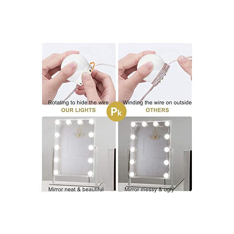 Vanity-Mirror-Lights-Kit,-LED-Dimmable-Hollywood-Lights-for-Makeup-Mirror-with-USB-Port,-5-Level-Brightness,-3-Style-Color,-Mirror-Not-Included