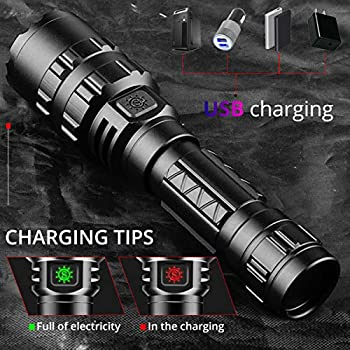 L2-Brightest-LED-Flashlights-Rechargeable-2-Pack-3000-High-Lumens-Wate