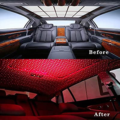 Car-Ceiling-USB-Night-Light,-Star-Lights-Projector-for-Car,-Adjustable-Car-Ambient-Light,-Portable-Star-Atmosphere-Decoration-Light-for-Tent,-Bedroom,-Walls,-Ceiling,-Camping,-Car,-Party,-Red